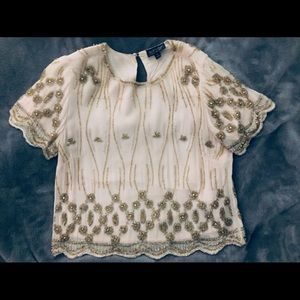 Pretty and Delicate Top Shop beaded blouse
